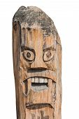 Monster Pole. Old Art Create Of Wood