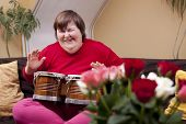 Mentally Disabled Woman Plays Drum