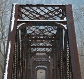 Converted Railroad Bridge In Winter