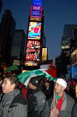 Palestinian Protesters In Times Square