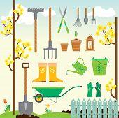 Cute spring gardening set