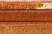 Rusted metal bars