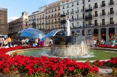 Madrid, Spain -september 8: Puerta Del Sol, Madrid, One Of The Famous Landmarks Of The Capital And T