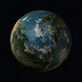 pic of geosphere  - 3 D Computer Render of the Earth - JPG