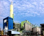 Modern waste and industrial waste incineration plant