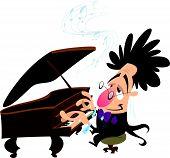 Cartoon-Pianist