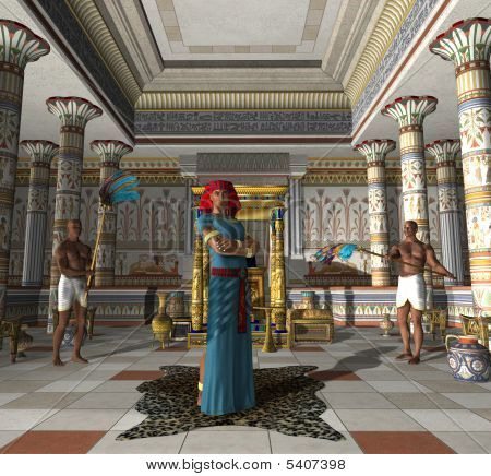 Ancient Egyptian Palace Throne Room