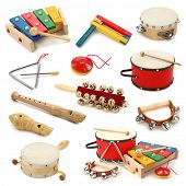 pic of castanets  - Musical instruments collection on white background - JPG