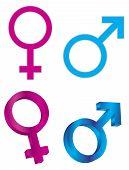 Male Female Gender Symbols Illustration