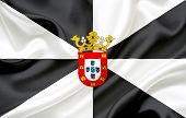 stock photo of ceuta  - Flag of Ceuta waving in the wind - JPG