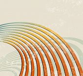 Retro lines - radio waves - abstract music background