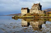 stock photo of castle  - Eilean Donan Castle - JPG