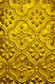 Background of golden textured glass