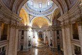 Interior of Santa Engracia church (Pantheon) in Lisbon