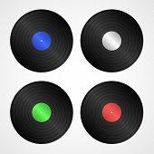 Vector Vinyl Discs