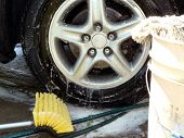 picture of car wash  - car wash day tire cleaning of my 2002 lexus 300rx suv - JPG