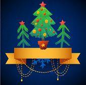 Christmas tree Greeting Card.
