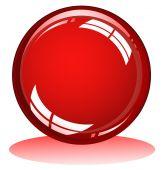 Esfera brillante rojo con colores de alto contraste