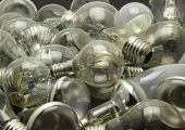 Selection Of Different Used Lightbulbs