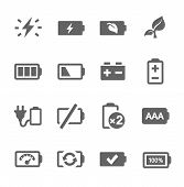 picture of accumulative  - Simple set of battery related vector icons for your design - JPG