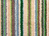 Background Of Rough Terry Cloth With Colorful Stripes