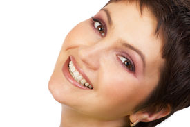 image of beautiful woman  - attractive beauty woman smiling. beauty series.   - JPG
