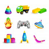 Kid Toys Icons Set