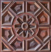 Old Wooden Carved Panel