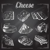 Cheese chalkboard collection