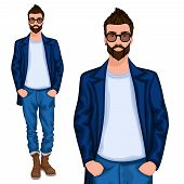 Hipster young guy
