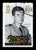 Vintage John F Kennedy Postage Stamp From Fujeira