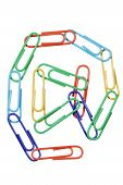 Paperclips Arranged Into The Shape Of The At Symbol.