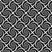 Design Seamless Monochrome Vortex Geometric Pattern
