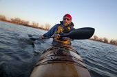 Paddling Workout In A Sea Kayak