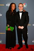 NEW YORK-APR 26: Actress/Comedian Aisha Tyler (L) and voice actor Matt Thompson attend the American