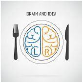 foto of left brain  - Creative left brain and right brain Idea concept background business concept - JPG