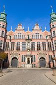 old baroque style great armory Gdansk, Poland