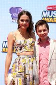 LOS ANGELES - APR 26:  Maia Mitchell, Hayden Byerly at the 2014 Radio Disney Music Awards at Nokia T