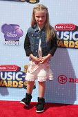 LOS ANGELES - APR 26:  Mia Talerico at the 2014 Radio Disney Music Awards at Nokia Theater on April