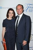 LOS ANGELES - APR 25:  Alyson Hannigan, Tom Papa at the 19th Annual
