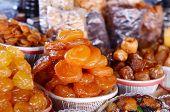 armenian dried sweet fruits in market