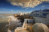 pic of asilah  - in northern Morocco there is a town called Asilah in which their homes and streets are painted blue - JPG