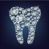 Tooth made up a lot of diamonds