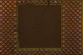 stock photo of microprocessor  - detail of old microprocessor as technology background - JPG