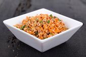 quinoa and bulgur carrot salad