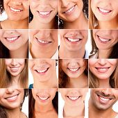 Collage Of Different Smiles