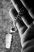 D letter necklace