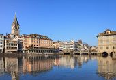 pic of zurich  - Zurich Switzerland cityscape in winter - JPG