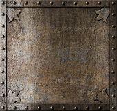 metal medieval door background