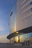 Minsk, Belarus - April, 26: Back Side of Minsk-Arena Sport Complex